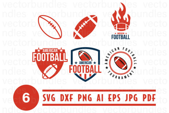 Download Free American Football Logo Design Template Graphic By Vectorbundles for Cricut Explore, Silhouette and other cutting machines.