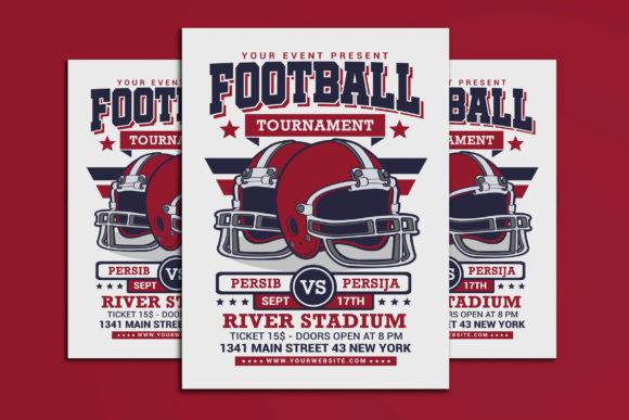 American Football Tournament Graphic Print Templates By muhamadiqbalhidayat