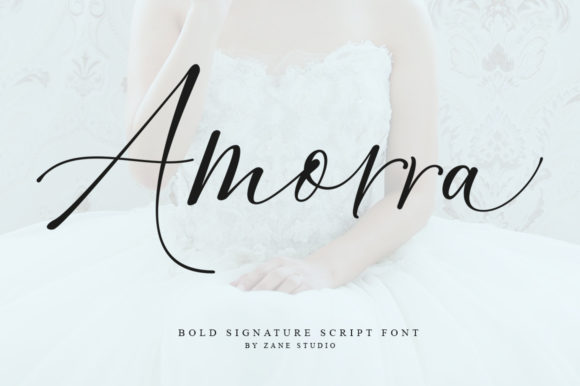 Print on Demand: Amorra Script Script & Handwritten Font By Zane Studio