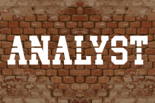 Analyst Font By da_only_aan