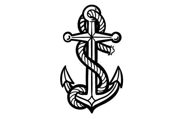 Anchor Nautical Craft Cut File By Creative Fabrica Crafts - Image 2