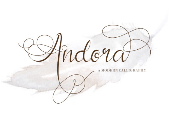 Print on Demand: Andora Script & Handwritten Font By thomasaradea