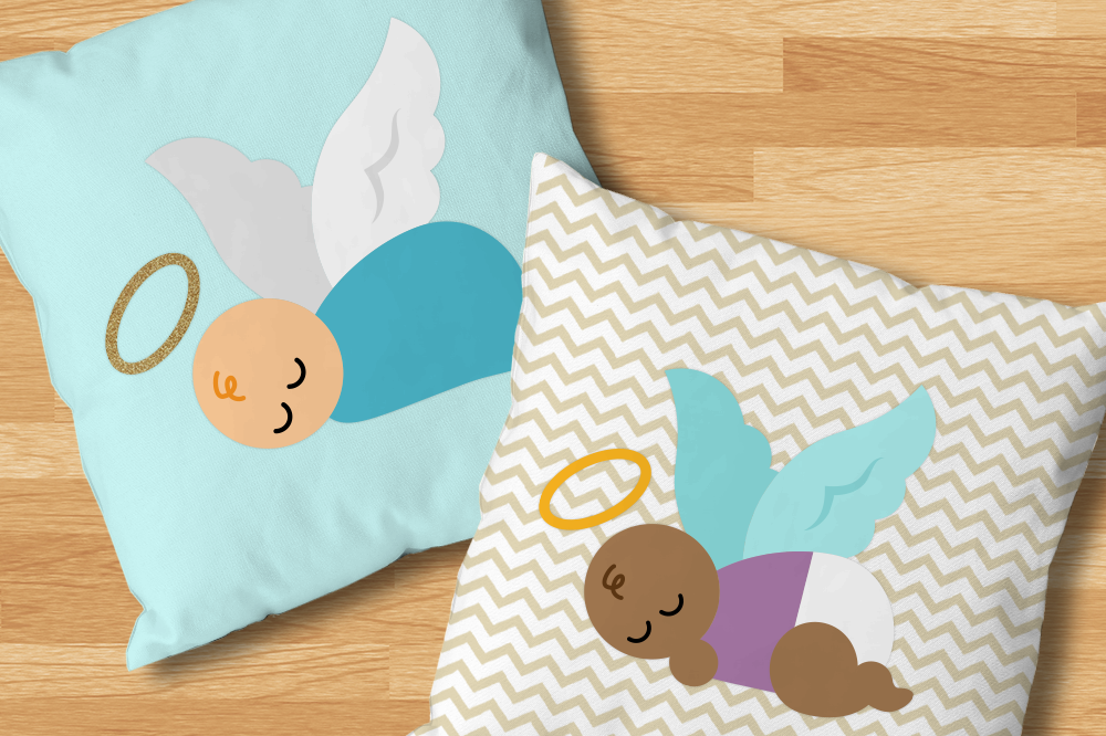 Download Free Angel Baby Graphic By Designedbygeeks Creative Fabrica for Cricut Explore, Silhouette and other cutting machines.
