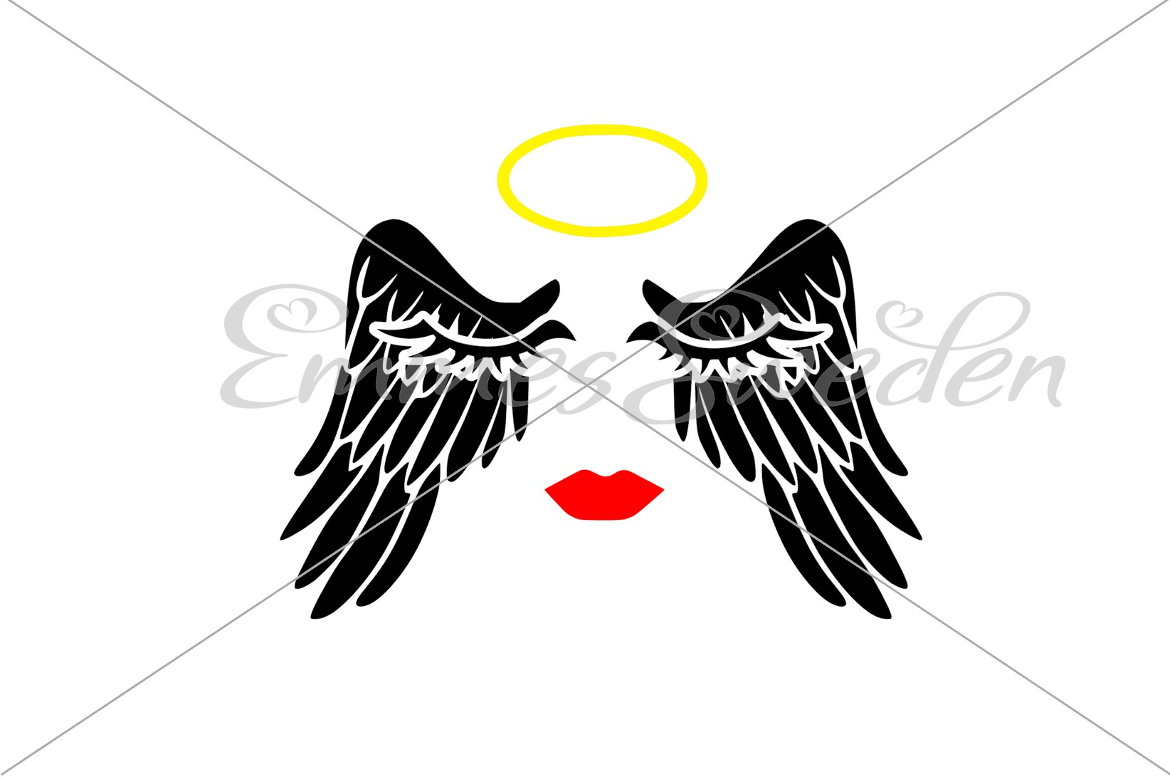 Download Free Angel Wings Svg Angel Svg Halo Svg Graphic By Emmessweden for Cricut Explore, Silhouette and other cutting machines.
