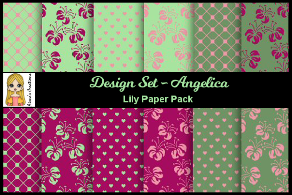 Angelica Set - Lily Paper Pack Graphic By Aisne