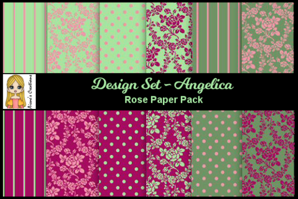 Angelica Set - Rose Paper Pack Graphic By Aisne