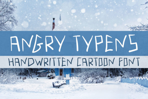 Print on Demand: Angry Typens Script & Handwritten Font By Dasagani