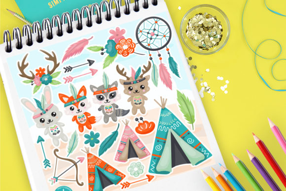 Print on Demand: Animal Friends Graphic Illustrations By Prettygrafik