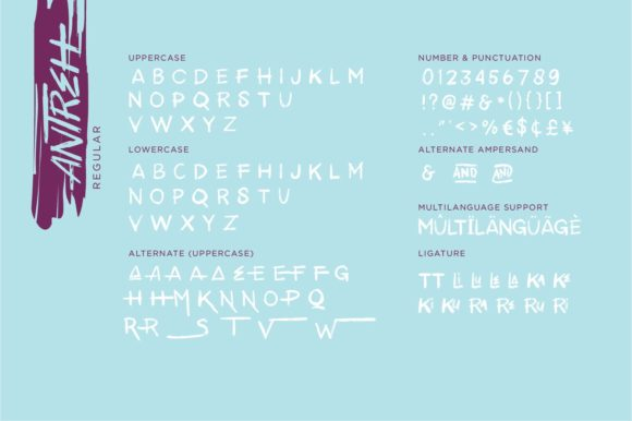 Print on Demand: Antreh Display Font By Sigit Dwipa - Image 6