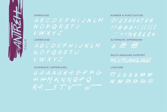 Print on Demand: Antreh Display Font By Sigit Dwipa - Image 8