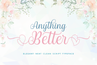 Print on Demand: Anything Better Script & Handwritten Font By Situjuh 1