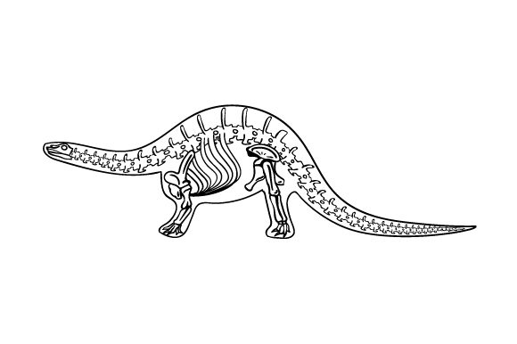 Download Free Apatosaurus Outline With Skeleton Svg Cut File By Creative for Cricut Explore, Silhouette and other cutting machines.