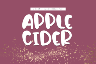 Apple Cider Font By KA Designs