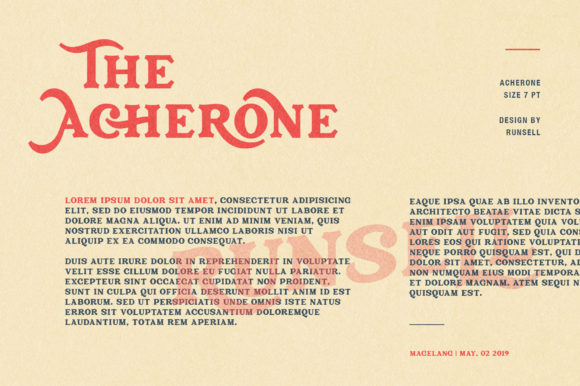 Print on Demand: Archerone Display Font By Runsell Graphic - Image 7