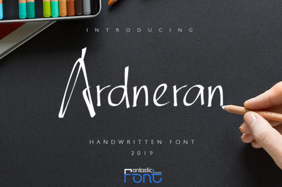 Print on Demand: Ardneran Script & Handwritten Font By FantasticFont Studio