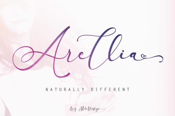 Print on Demand: Arellia Script & Handwritten Font By aldedesign