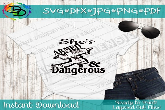 Download Free Armed Dangerous Svg File Hot Glue Gun Sv Grafico Por for Cricut Explore, Silhouette and other cutting machines.