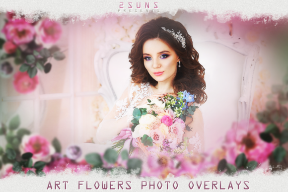 Art Flowers Overlays, Summer Backdrop Graphic Layer Styles By 2SUNS