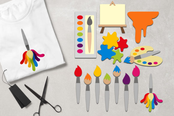 Print on Demand: Art Supplies Graphic Illustrations By Revidevi