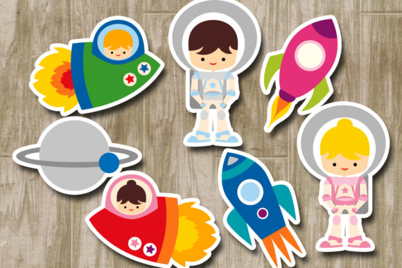 Print on Demand: Astronauts Graphic Illustrations By Revidevi - Image 2