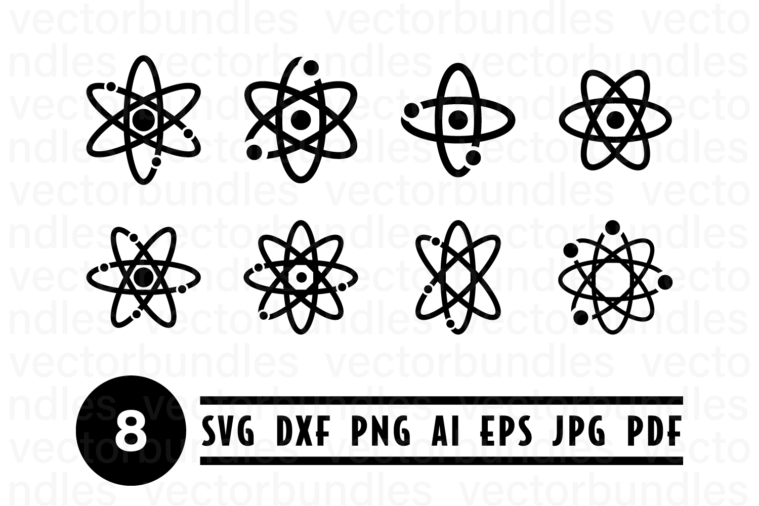 Download Free Atom Science Clip Art Svg Graphic By Vectorbundles Creative for Cricut Explore, Silhouette and other cutting machines.