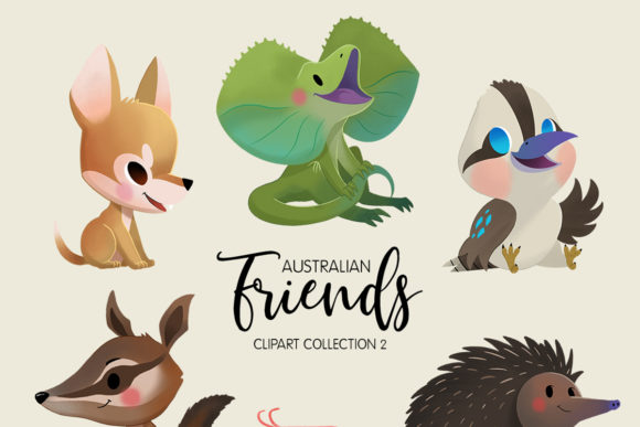 Australian Friends Clipart Collection 02 Graphic Illustrations By usefulbeautiful - Image 2