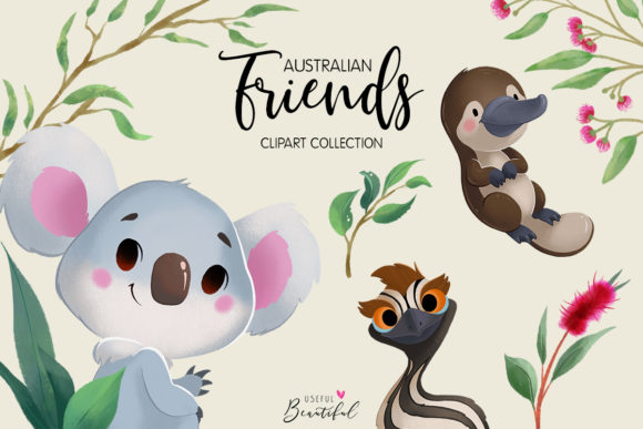 Australian Friends Clipart Collection Graphic Illustrations By usefulbeautiful