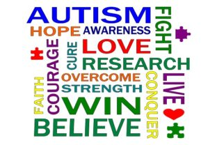 Download Free Autism Words Graphic By Family Creations Creative Fabrica for Cricut Explore, Silhouette and other cutting machines.