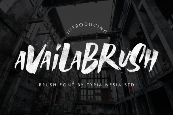Print on Demand: Availabrush Display Font By Typia Nesia
