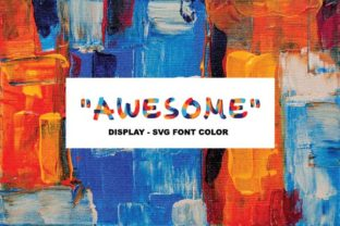 Print on Demand: Awesome Color Fonts Font By ponizeothox