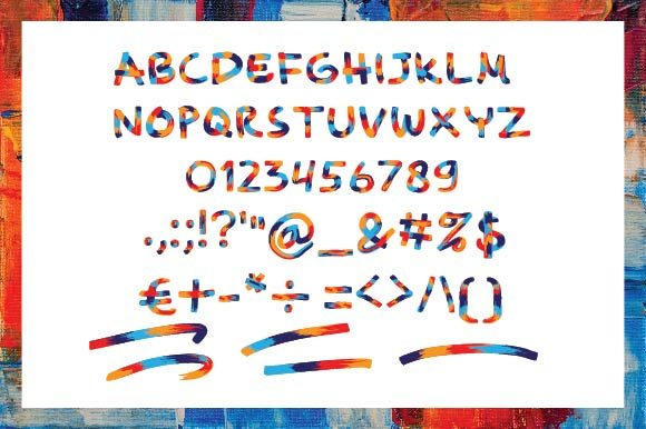 Print on Demand: Awesome Color Fonts Font By ponizeothox - Image 6