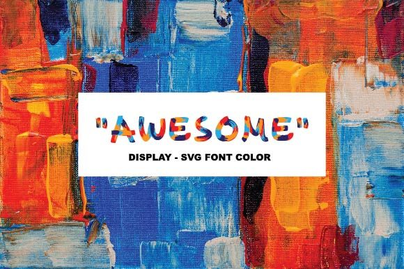 Print on Demand: Awesome Color Fonts Font By ponizeothox - Image 1