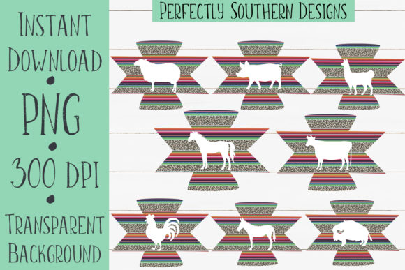 Print on Demand: Aztec Animal Bundle Graphic Crafts By PerfectlySouthernDesigns