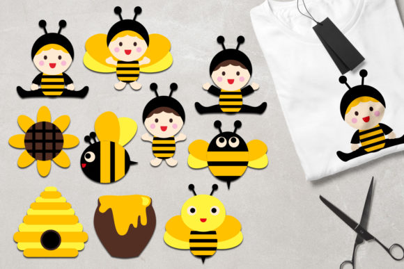 Print on Demand: Baby Bee Graphic Illustrations By Revidevi