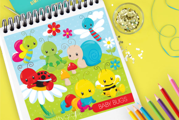 Print on Demand: Baby Bugs Graphic Illustrations By Prettygrafik