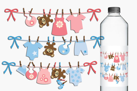 Print on Demand: Baby Clotheslines Graphic Illustrations By Revidevi