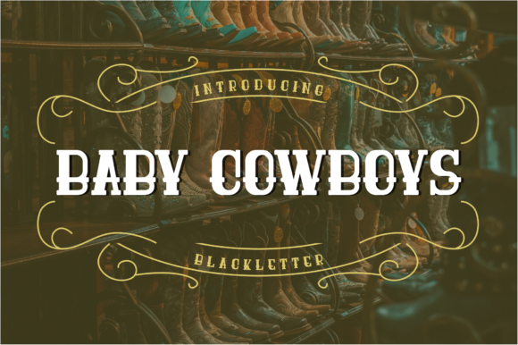 Print on Demand: Baby Cowboys Script & Handwritten Font By Freegoodstock