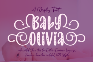 Print on Demand: Baby Olivia Display Schriftarten von Situjuh