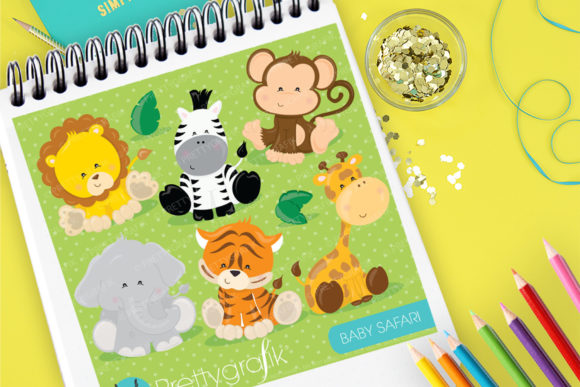 Print on Demand: Baby Safari Graphic Illustrations By Prettygrafik