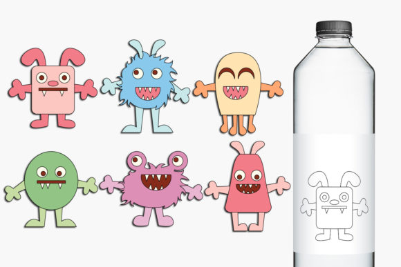 Print on Demand: Baby Monsters Graphic Illustrations By Revidevi