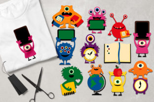 Back to School Monsters Graphic By Revidevi