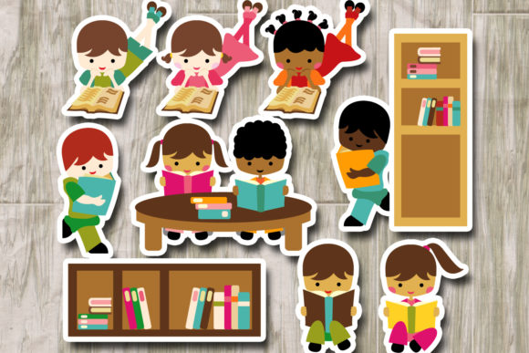 Back to School Reading Graphic By Revidevi Image 2