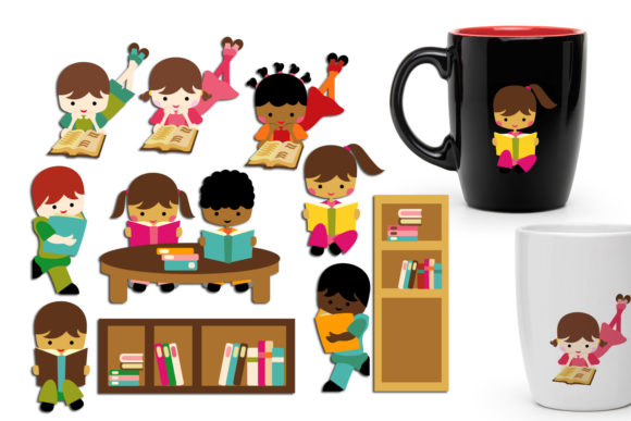Back to School Reading Graphic By Revidevi Image 1