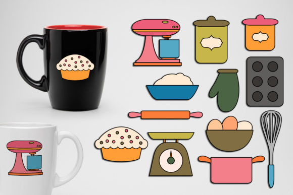Baking Utensils Graphic By Revidevi 183 Creative Fabrica
