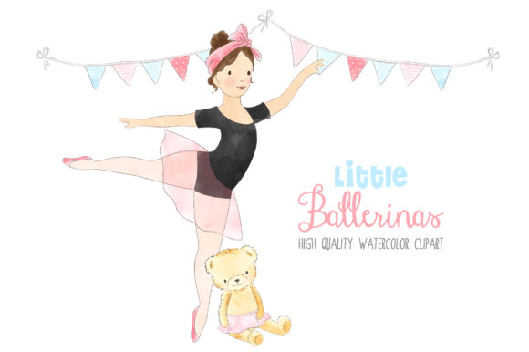 Ballerinas Ballet Dancing Girl Clipart Graphic By kabankova Image 3