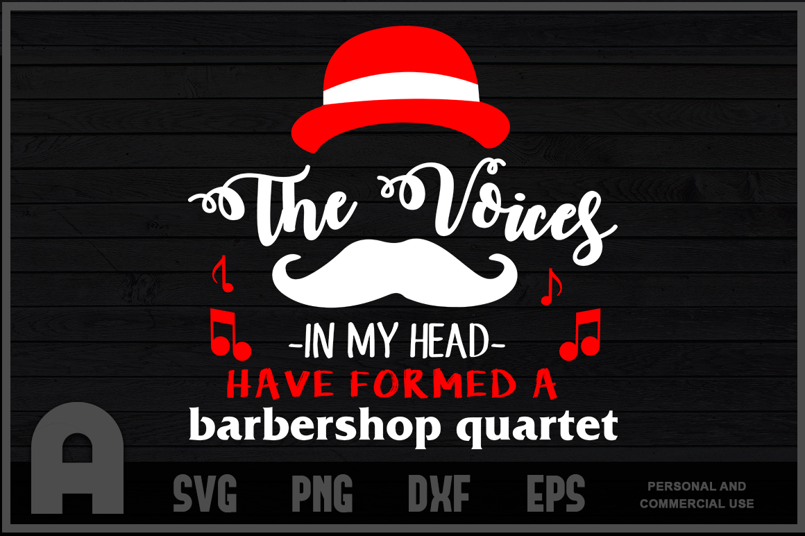 Download Free Barbershop Quarter Singing Funny T Shirt Graphic By for Cricut Explore, Silhouette and other cutting machines.