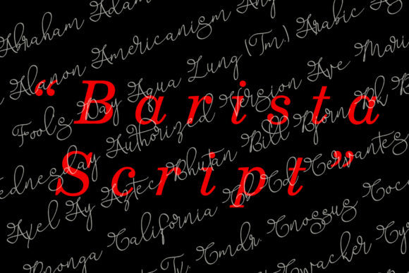 Print on Demand: Barista Script Script & Handwritten Font By aldedesign