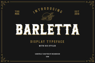 Barletta Font By RezaDesign
