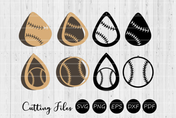 Download Free Baseball Earrings Graphic By Hd Art Workshop Creative Fabrica for Cricut Explore, Silhouette and other cutting machines.