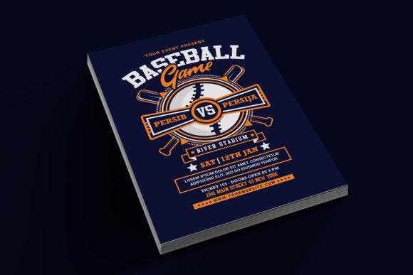 Baseball Game Flyer Graphic Print Templates By muhamadiqbalhidayat - Image 2